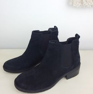 Black suede bootie by Anne Klein